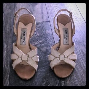 Vintage Jimmy Choo Sandals with Low Heel